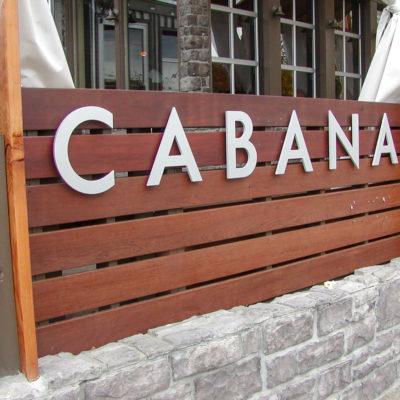 Channel letter exterior signage