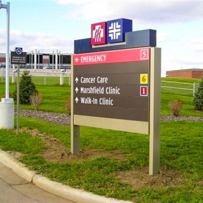 Exterior signage wayfinding example