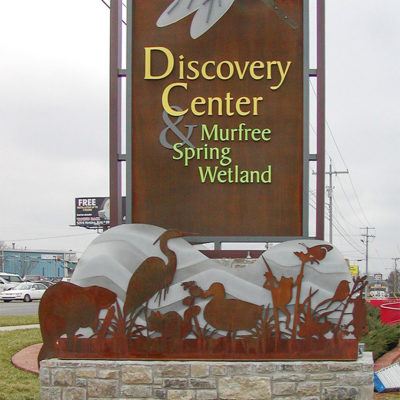 Example of exterior signage monument