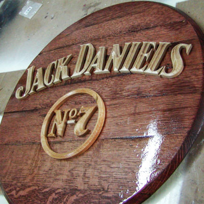 Example of a carved interior sign