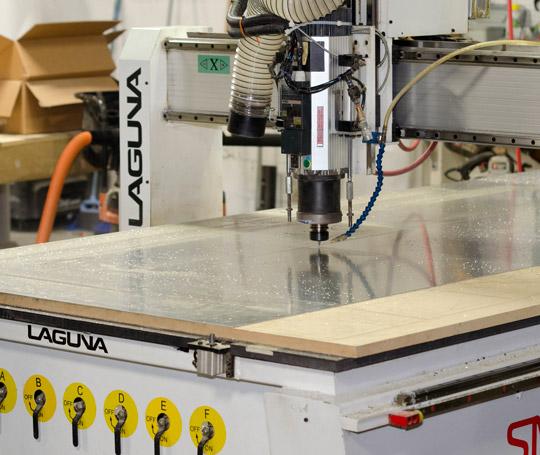 Cutting machine in sign workshop